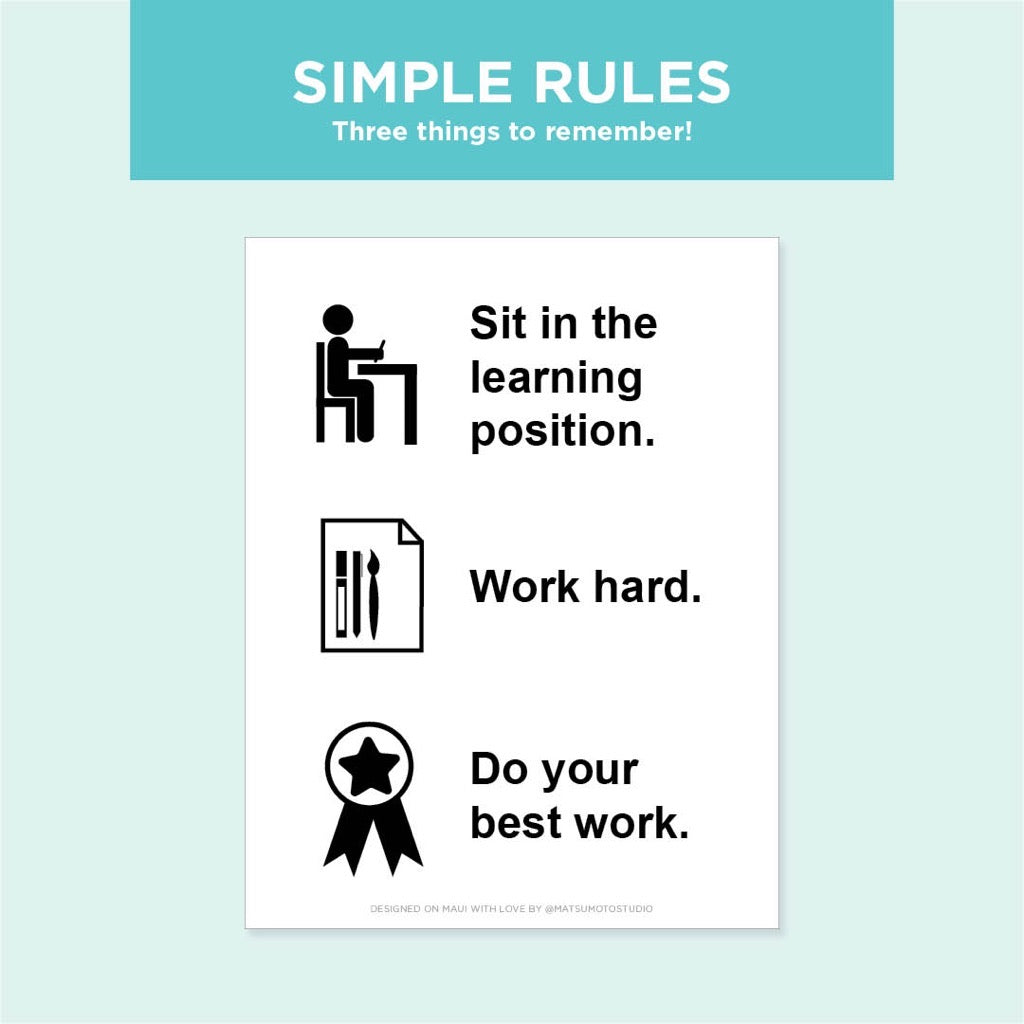 Learning Rules Poster Free Printable