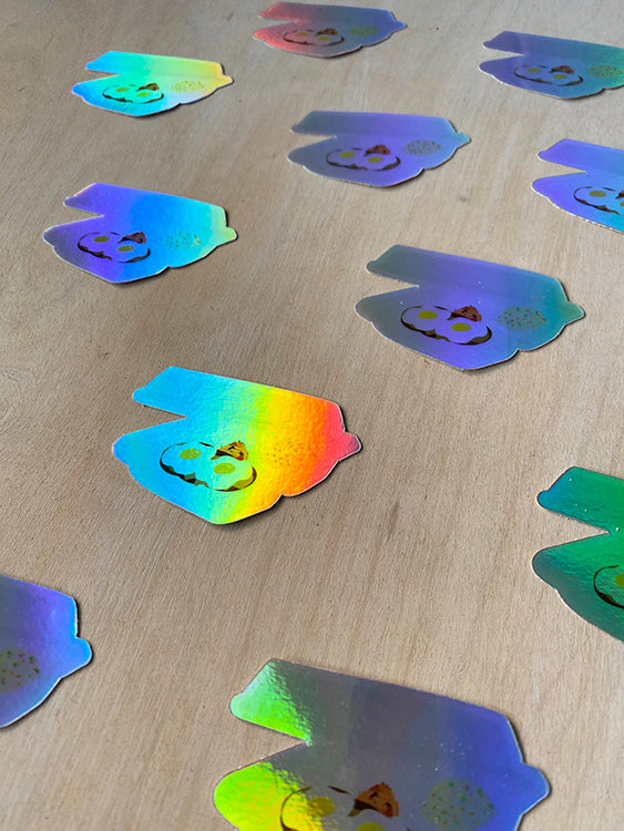 Plate Lunch Holographic Sticker