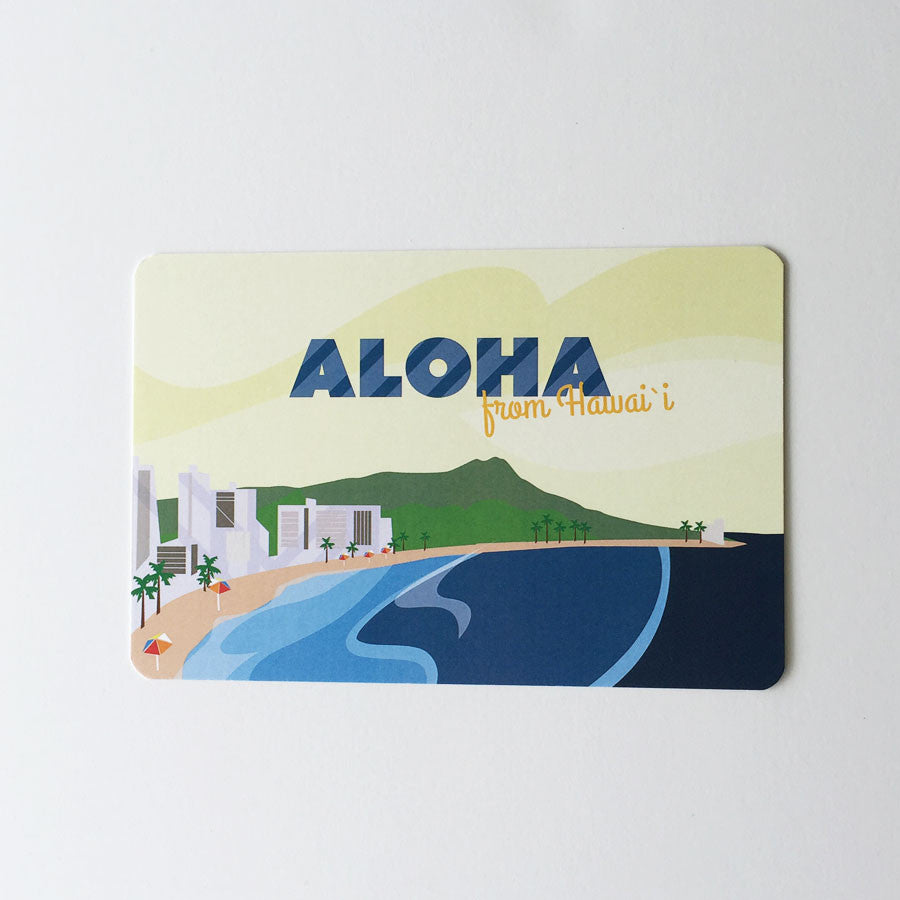 Aloha Diamond Head Postcard
