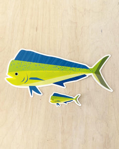 Mahi Mahi Sticker Small