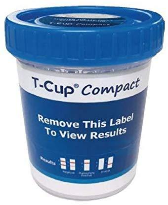 12-Panel T-Cup Compact Drug Test Cup - CDOA-3124