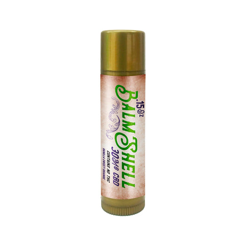 Balmshell lip balm 30mg Broad Spectrum Hemp Oil, Sweet Orange and Vanilla