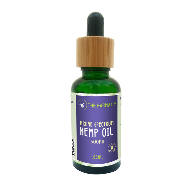 Broad Spectrum Hemp Oil Tincture 500mg - The Farmacy