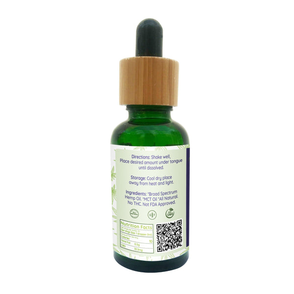 Broad Spectrum Hemp Oil Tincture 1000mg - The Farmacy