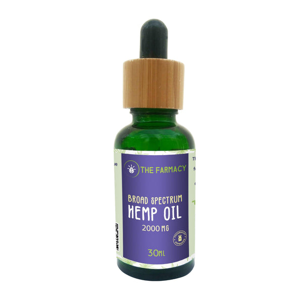 Broad Spectrum Hemp Oil Tincture 2000mg - The Farmacy