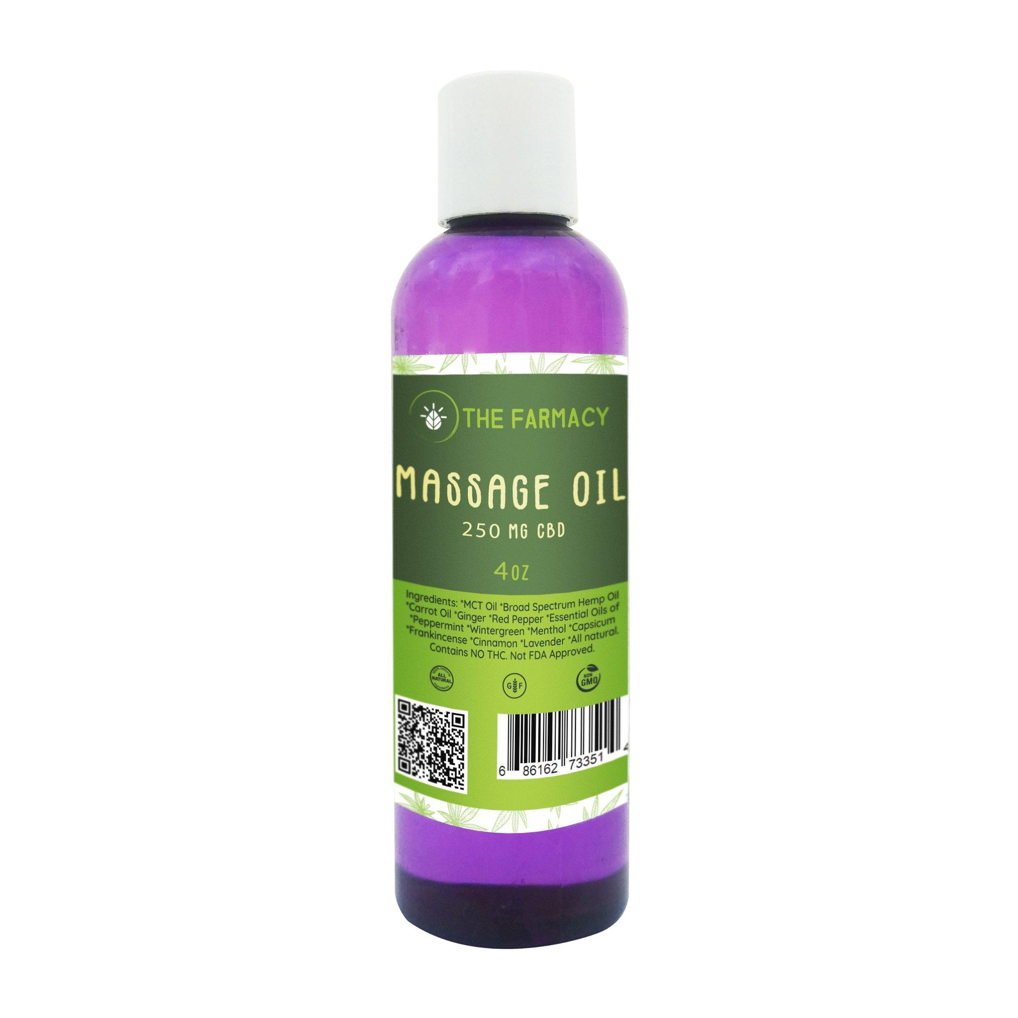 Massage Oil 250mg Broad Spectrum Hemp Oil