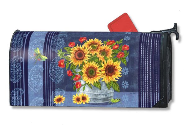 Denim Sunflowers MailWrap