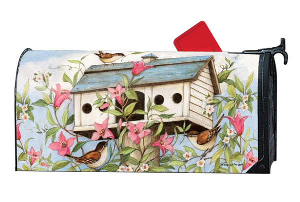 Spring Birdhouse with Clematis MailWrap