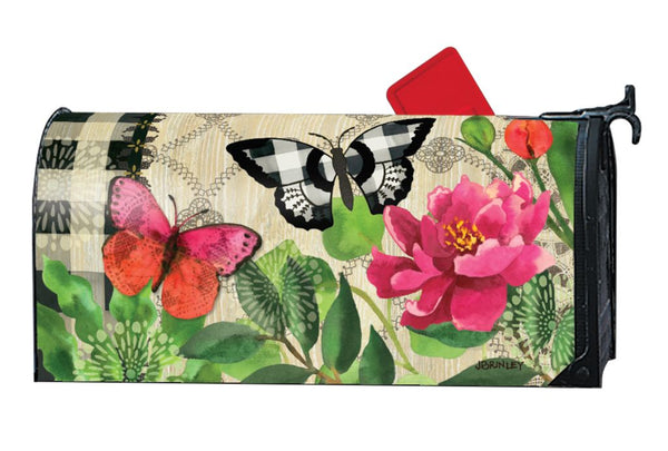 Butterflies in Check MailWrap