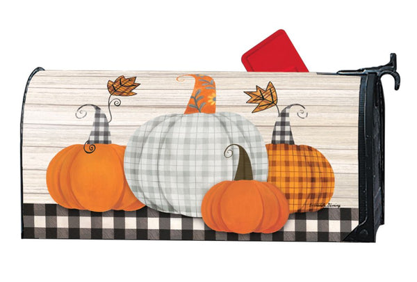 Plaid Pumpkin MailWrap