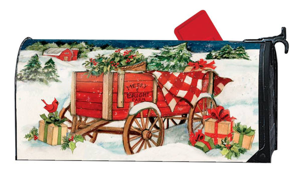 Christmas Farm Wagon MailWrap
