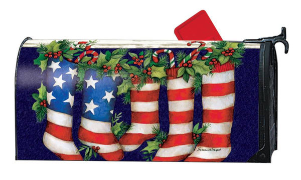 Patriotic Stockings MailWrap