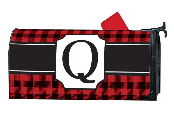 Buffalo Check Monogram Q MailWrap