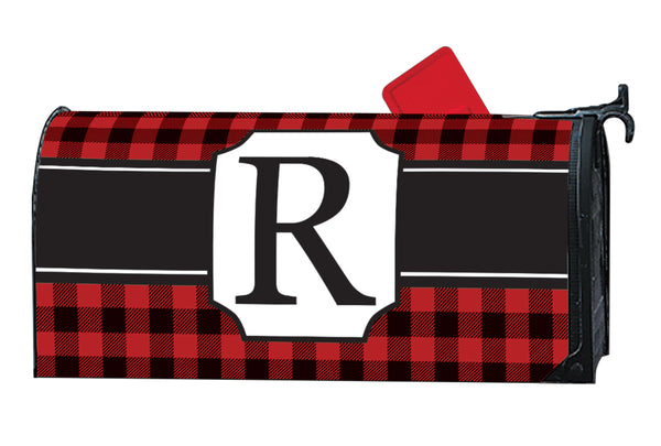 Buffalo Check Monogram R MailWrap