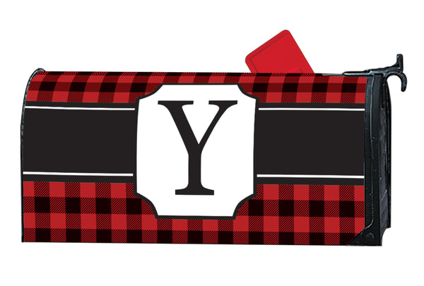 Buffalo Check Monogram Y MailWrap