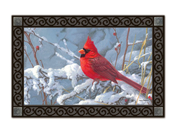 Cardinal in Snow MatMate