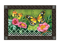 Butterflies with Pink Flowers MatMate