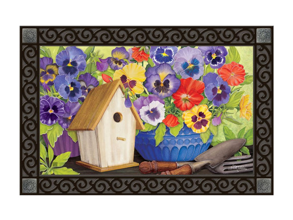 Pretty Pansy and Birdhouse MatMate