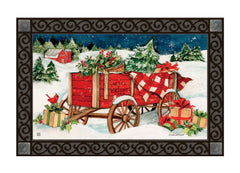 Christmas Farm Wagon MatMate
