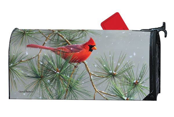 Winter Red Bird OS MailWrap