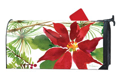 Pretty Poinsettia OS MailWrap