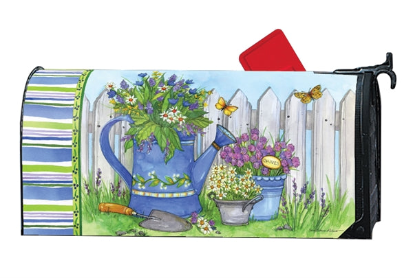 Painted Watering Can OS MailWrap
