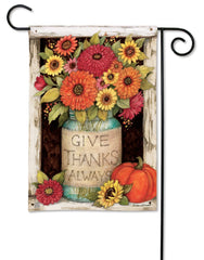 Fall Mason Jars Garden Flag