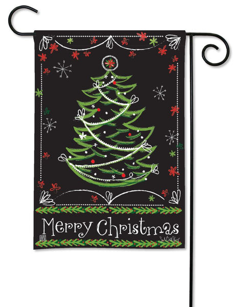 Blackboard Christmas Garden Flag