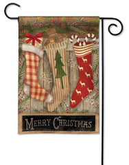 Christmas Stockings Garden Flag