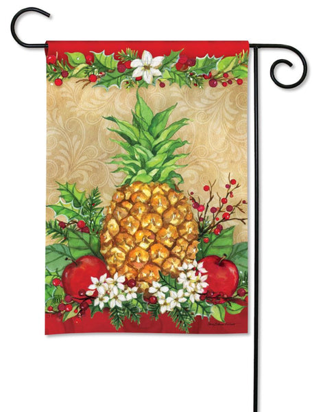 Holiday Pineapple Garden Flag