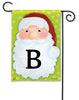 Jolly St. Nick Mono B Garden Flag