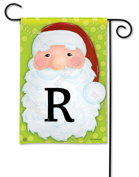 Jolly St. Nick Mono R Garden Flag