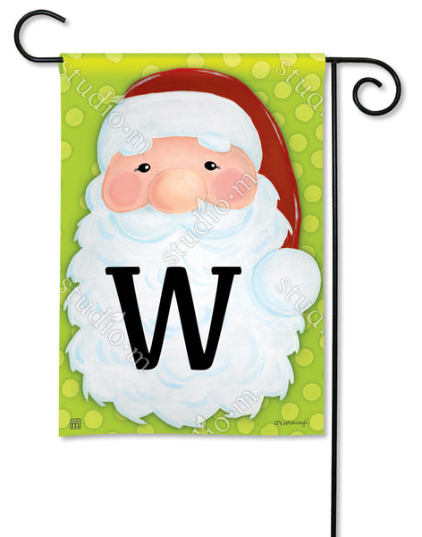 Jolly St. Nick Mono W Garden Flag