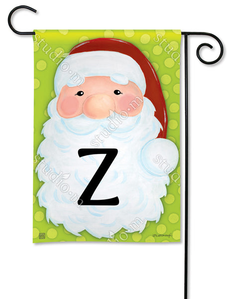 Jolly St. Nick Mono Z Garden Flag