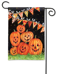 Party Time Pumpkins Garden Flag