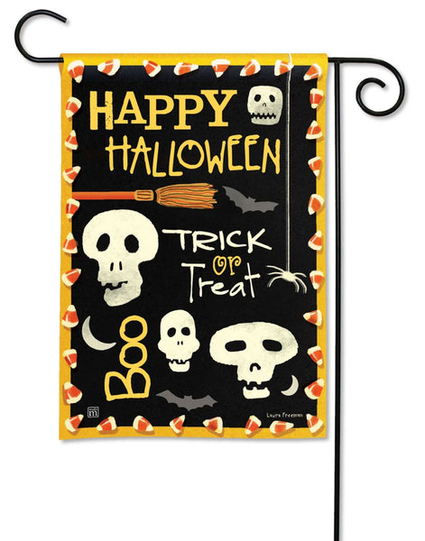Skeleton Halloween Garden Flag