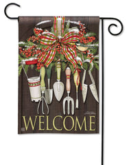 Winter Gardening Garden Flag