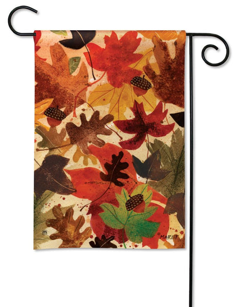 Fallen Leaves Garden Flag