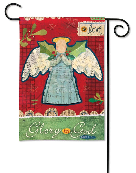 Glory to God Garden Flag