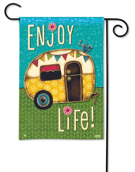Enjoy Life Garden Flag