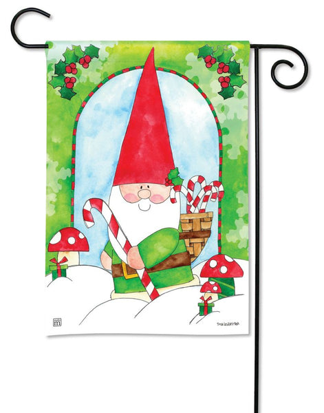 Gnome for the Holidays Garden Flag