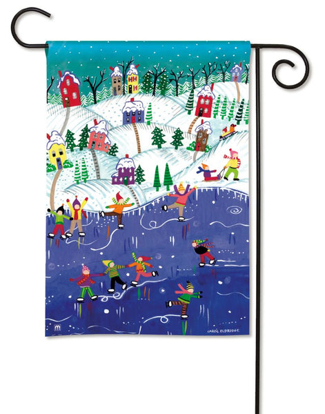 Snow Day Garden Flag