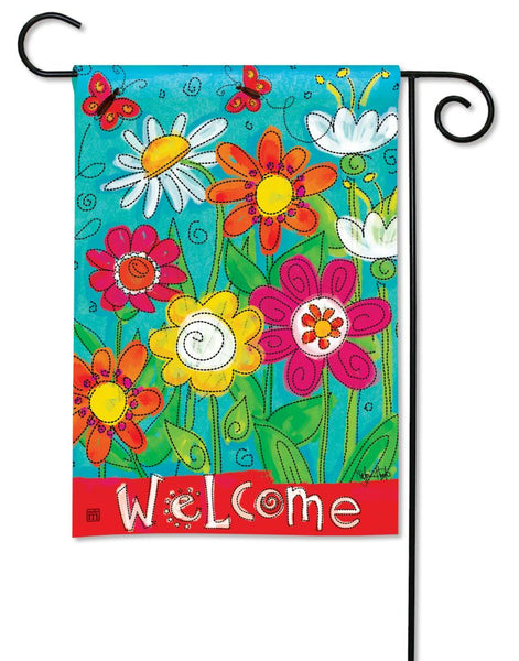 Welcome Blooms Garden Flag