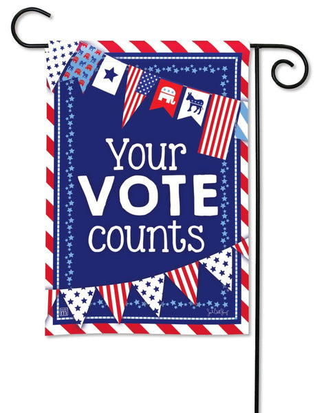 Your Vote Counts Garden Flag