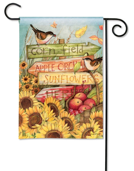 Signs of Fall Garden Flag