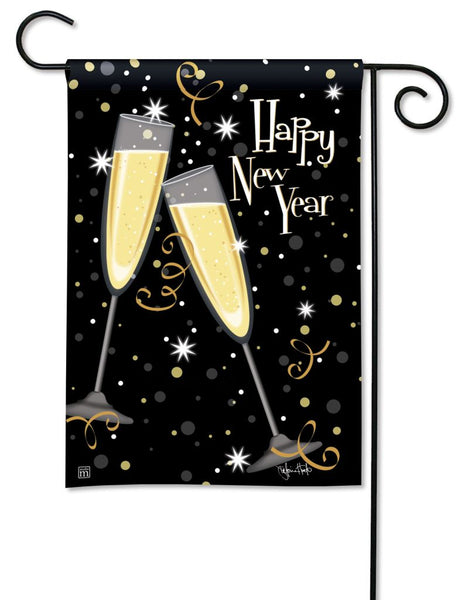 New Year's Toast Garden Flag