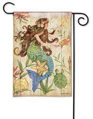 Mermaid Garden Flag