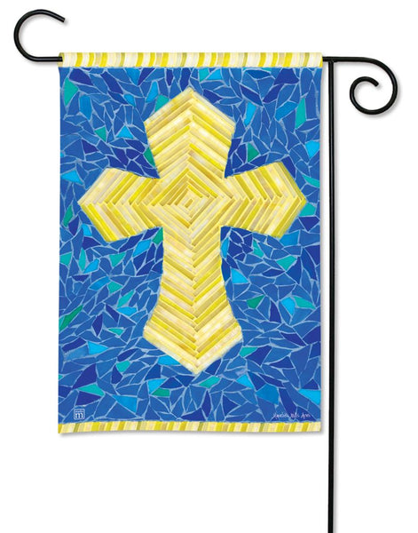 Mosaic Cross Garden Flag