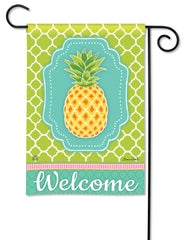 Preppy Pineapple Garden Flag