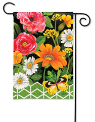 Fancy Floral Garden Flag